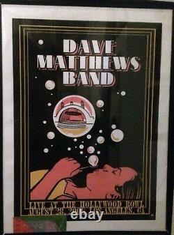 06 Dave Matthews Band Los Angeles Hollywood Bowl Bubble Girl Concert Poster 8/28