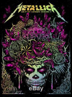 17 Metallica San Antonio Pink Speckle Foil Concert Poster 6/14 #/70 S/n Munk One