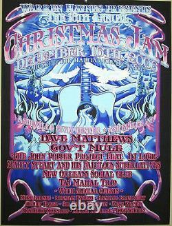 2006 Dave Matthews Band Warren Haynes Christmas Jam Concert Poster 12/16 Biffle