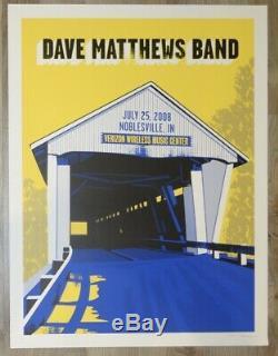 2008 Dave Matthews Band Noblesville I Silkscreen Concert Poster by Methane