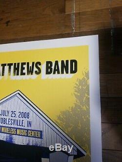 2008 Dave Matthews Band Poster Noblesville Concert Poster Signed AP RARE MINT