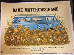 2009 Dave Matthews Band Woodlands Vw Bus Westfalia Concert Poster 5/1 #27/500 Sn