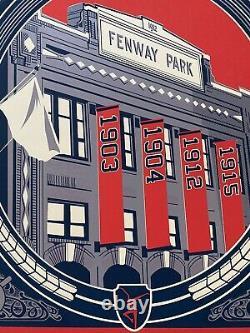 2009 Dave Matthews Band poster Fenway Park