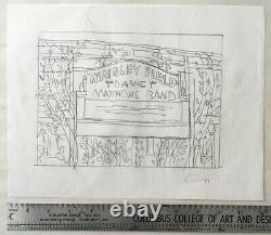 2010 Chicago Wrigley Original Sketch Dave Matthews Band Methane Studios