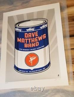 2010 DAVE MATTHEWS BAND CLARKSTON OIL CAN POSTER 6/23 MI Mint Signed #ed