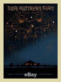 2010 Dave Matthews Band Saratoga Springs Zodiac Concert Poster 6/4 Spac#/625 S/n