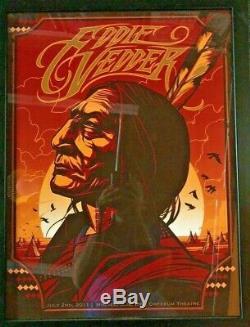 2011 Eddie Vedder Pearl Jam Minneapolis Concert Poster 7/2 Ap/100 Munk One Signd