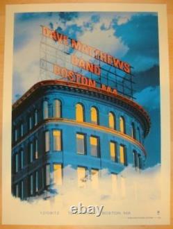 2012 Dave Matthews Band Boston Building Concert Poster 12/9 #/615 Td Garden Mint