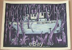 2012 Dave Matthews Band Darien Lake Boat 12 Concert Tour Poster 7/3 S/n Bonus