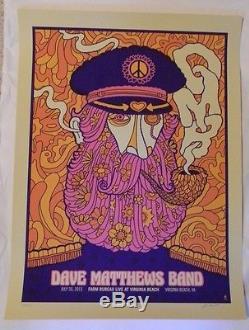 2013 Dave Matthews Band Poster Farm Bureau Virginia Beach Dmb 7/25/13 S/n