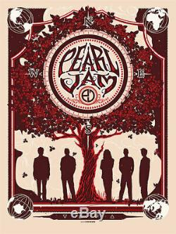 2013 Pearl Jam Band Munk One 10 Club Companion Concert Poster Ap/100 Signed Ap