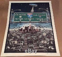 2015 Foo Fighters 15 Los Angeles Freeway Forum Sonic Poster 9/21 #/100 Emek S/n