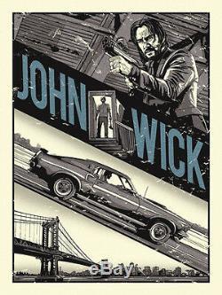 2015 John Wick Baba Yaga Keanu Reeves Silk Screen Movie Poster Not Mondo #/75