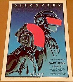 2016 Daft Punk Discovery Classic Album Art Print Poster Doyle La Ny Uk #/100 S/n