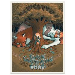 2016 Dave Matthews Band Bristow Sleeping Giant Concert Poster 6/18 #20/960 Bonus