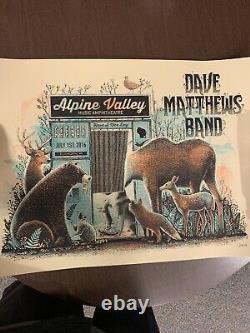 2016 Dave Matthews Band Elkhorn Alpine Photo Booth Concert Poster