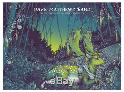 2016 Dave Matthews Band Noblesville Deer Concert Poster 6/22 Klipsch #/935 S/n