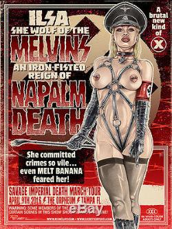 2016 Melvins Tampa Ilsa She Wolf Of Ss Nazi Sexploitation Concert Poster 4/9 S/n