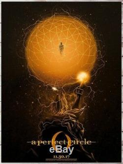 2017 A Perfect Circle Tool Vancouver Golden Orb Concert Poster 11/30 #/25 Ae S/n