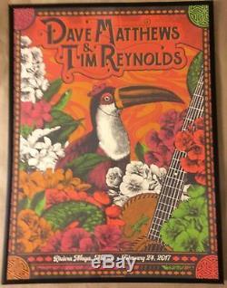 2017 Dave Matthews Tim Reynolds N2 Riviera Maya Concert Poster 2/24 #/660 Mexico
