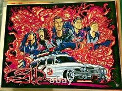2018 311 Halloween Ghostbusters Red Rainbow Foil Concert Poster Ap/30 Signed