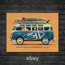 2018 311 Reno Red Volkswagon Bus 21 Window Foilconcert Poster #/25 7/21 Ae S/n