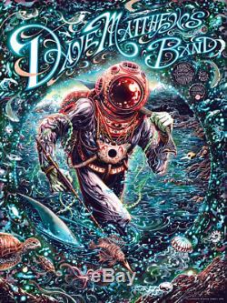 2018 Dave Matthews Band Print Poster Virginia Beach Miles Tsang signed AP XX/100
