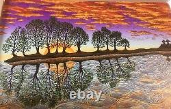 2018 Emek Guitar Island Wood Panel 2007 10,000 Lakes Art Print Poster S/n #/425