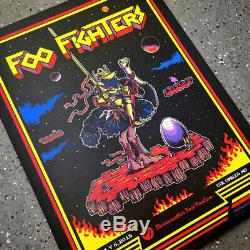2018 Foo Fighters Columbia Joust Game Concert Poster 7/6 #/75 Ae Mint S/n