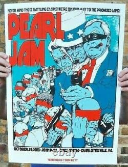 2018 Pearl Jam Charlottesville Concert Poster Limited 100 10/29 Jermaine Rogers