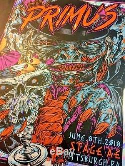 2018 Primus Pittsburgh Leprechaun Foil Concert Poster #/50 6/8 Rhys Cooper S/n