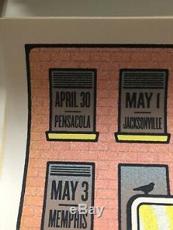 2019 Dave Matthews Band Tour Poster Summer Tour 19 Half & Half Signed #/1250