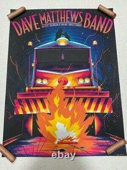 2021 Dave Matthews Band Burgettstown, Pa Poster 8/27/21