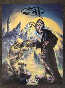 311 9/1/2018 Poster Sioux City Iowa Signed & Numbered #/20 A/E Foil Variant