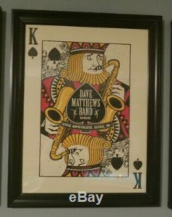 (4) Dave Matthews Band Royal Flush Spade Series Posters KIng, Queen, Jack, Joker