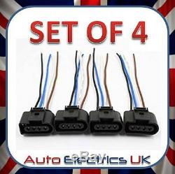 4X Ignition Coil Connector Repair Harness Plug For Audi VW Skoda Ford 1J0973724