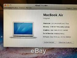 APPLE used MacBook Air 13 Original Core 2 Duo 1.6GHz 80GB 2GB A1237 DMB125
