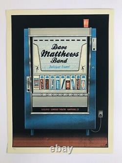 AUTHENTIC Dave Matthews Band Comcast Hartford CT 2012 Candy Machine Poster RARE