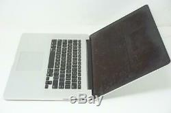 Apple Macbook Pro Core i7 2.2GHz 15in A1398 16GB 2014 DEFECTIVE AS-IS DMB028