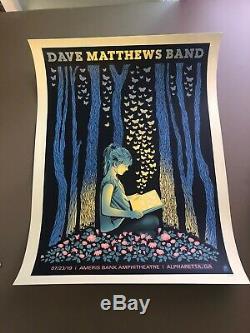 Atlanta 2019 Dave Matthews Band Poster DMB Butterfly BookGirl ATL