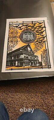 Avett Brothers poster Nashville, TN 10/31/09