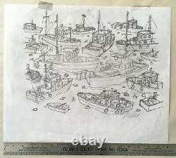Bangor Boats 2014 Original Concept Sketch Dave Matthews Band Methane Studios