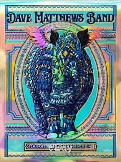 Ben Kwok Bioworkz Dave Matthews Band FOIL Gorge George WA Signed Print Poster