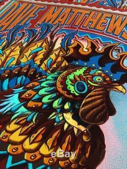 Bioworkz Dave Matthews Band FOIL VARIANT Print Poster Bridgestone AP Nashville