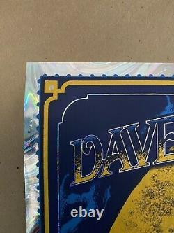 Bioworkz Dave Matthews Band Noblesville AP WHITE SWIRL FOIL Poster x/40 DMB