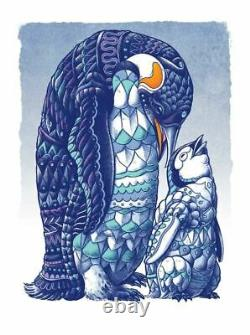 Bioworkz'Penguin' Giclee Art Print Poster S/N #/29 Ben Kwok dmb jag IN HAND