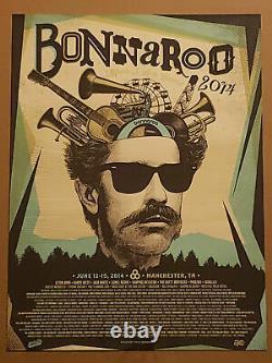 Bonnaroo 2014 18 x 24 Poster Signed & Numbered #/40 Kanye West Elton John Rare