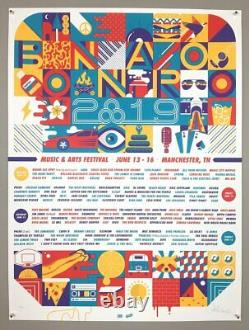 Bonnaroo 2019 18 x 24 Poster Signed & Numbered #/50 Avett Brothers Phish