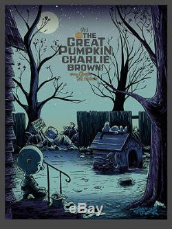 Charlie Brown It's The Great Pumpkin Poster Glow In The Dark Edition Signed A/P