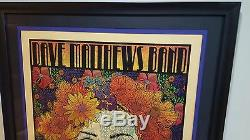 Chuck Sperry Dave Matthews Band Silkscreen Poster Custom Framed Gold Variant
